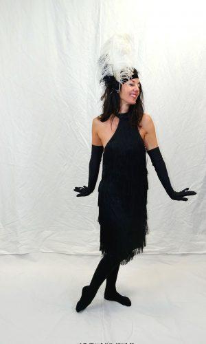 robe Charleston noir