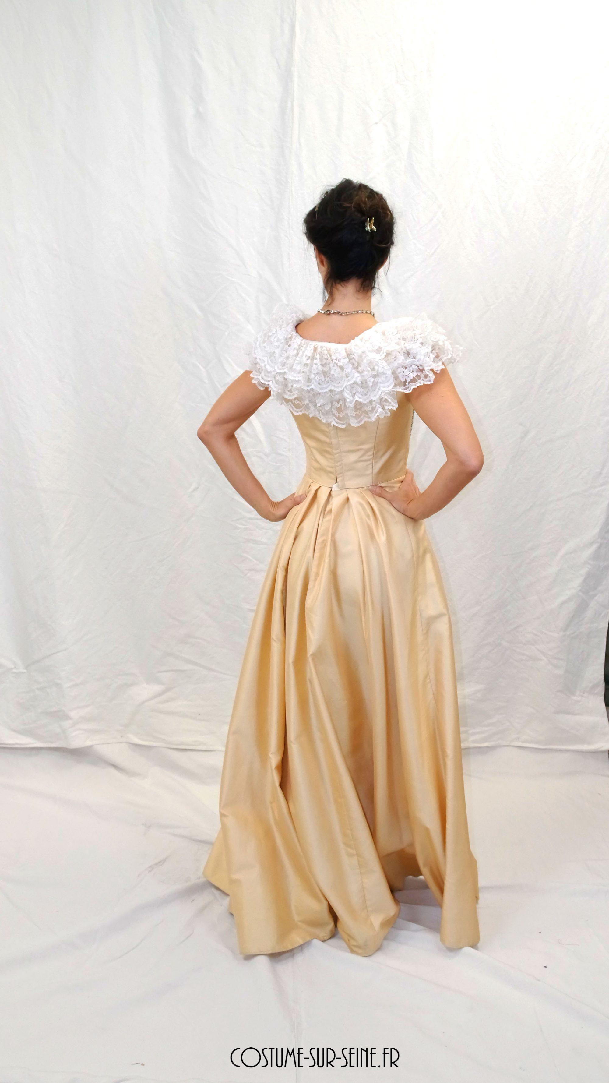 Robe bustier de jeune fille 1890