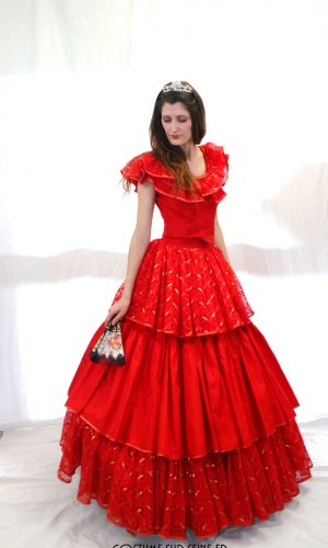 location robe de bal rouge 2nd empire