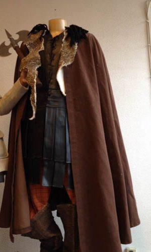 ensemble cuir et fourrure de viking