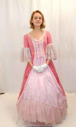Robe Rose XVIIIe Versailles