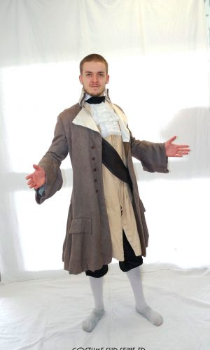 costume gentilhomme gris