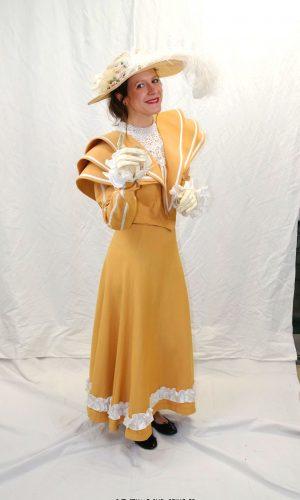 Robe Jaune Belle-époque voyage t.36,38,40