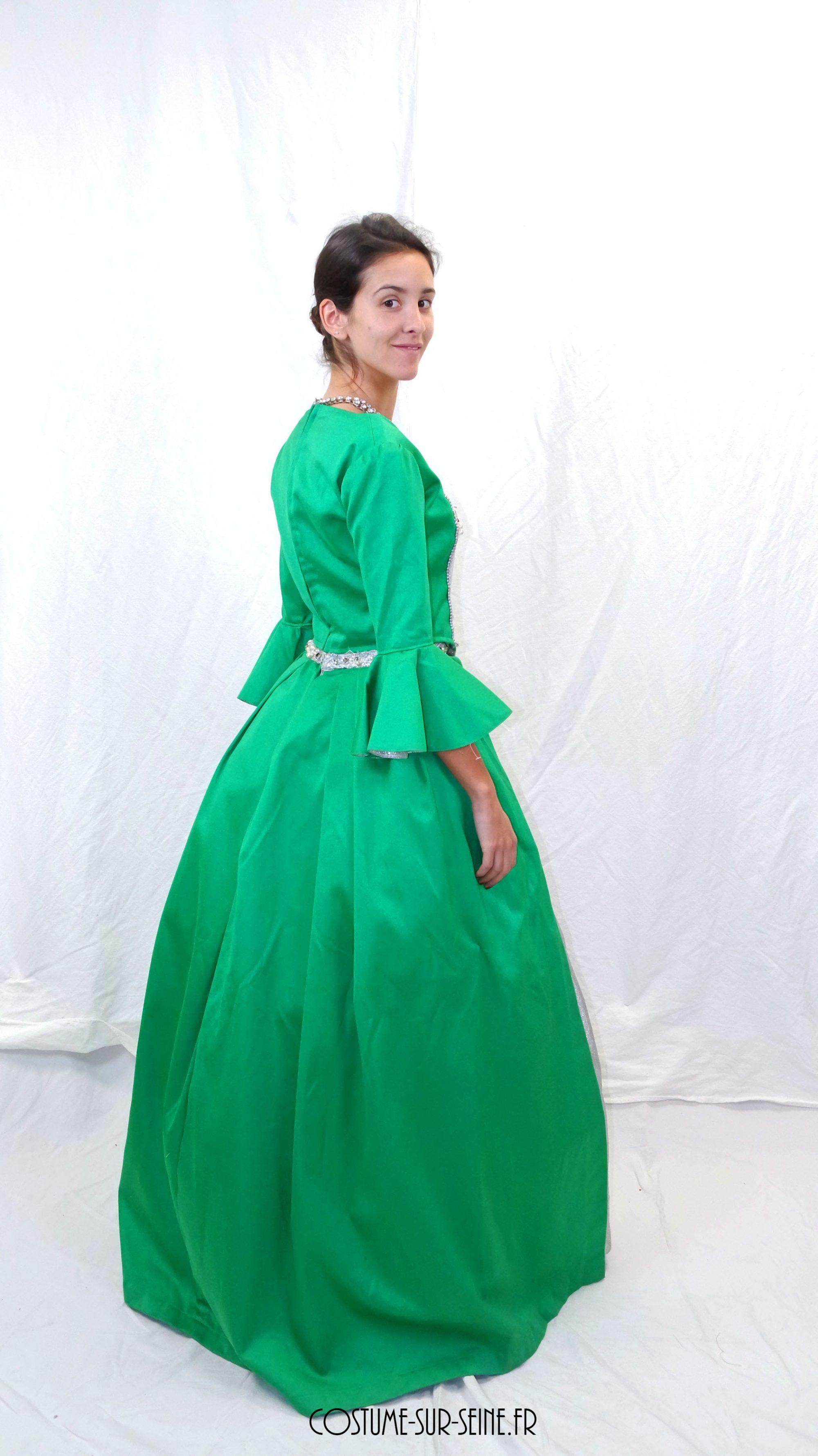 Robe XVIIIe Vert Argent