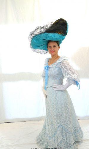 location robe bleu Ascot belle-époque