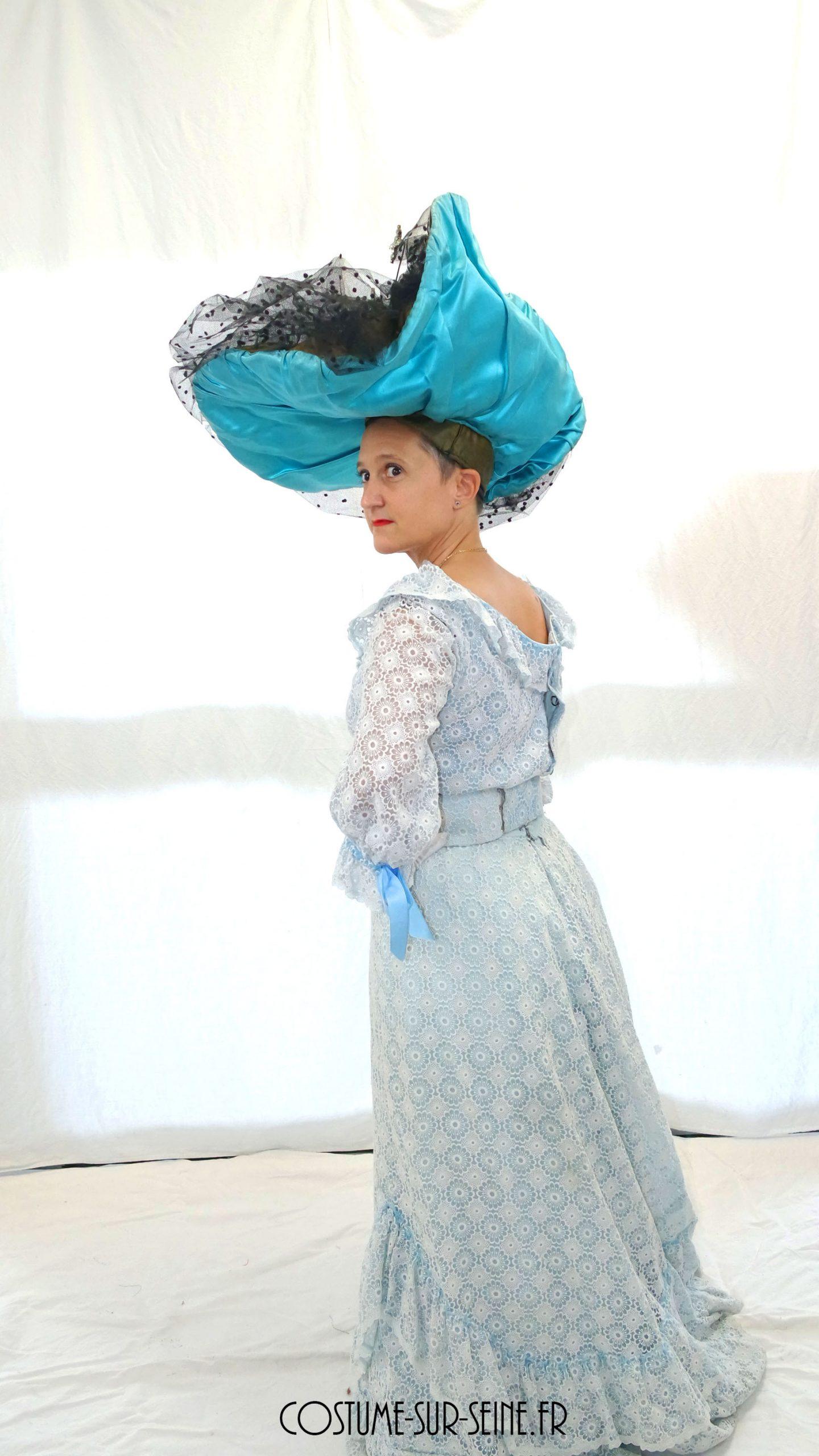Robe mondaine Ascot bleu