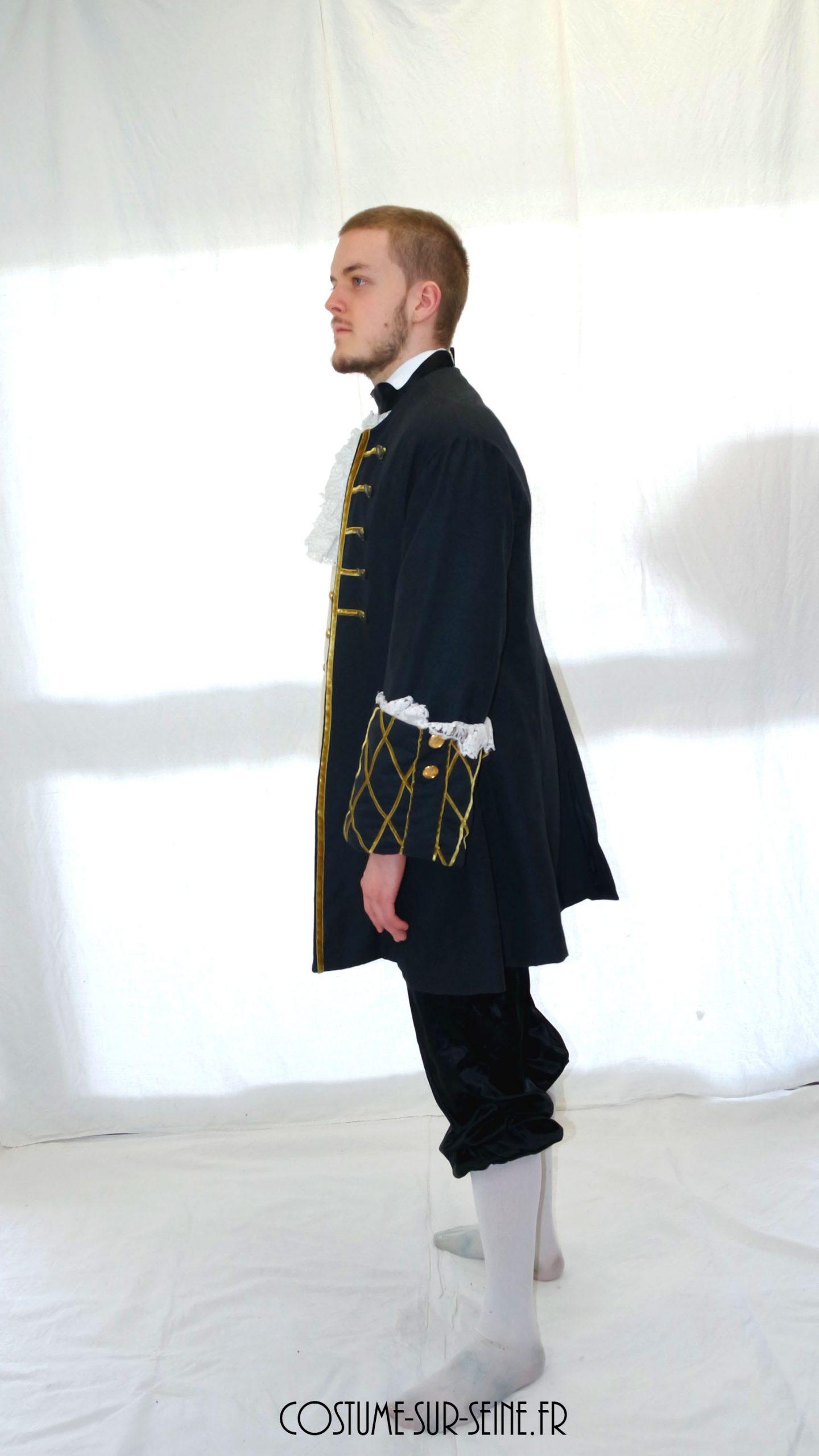 Veste d'époque noir XVIIe