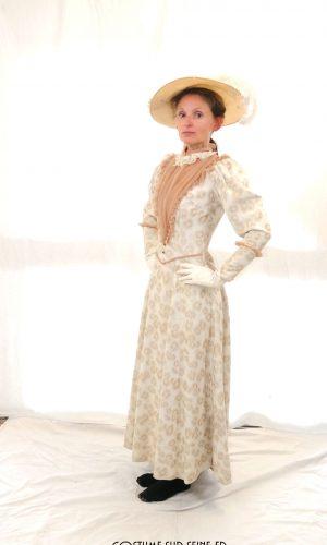 robe crème belle époque